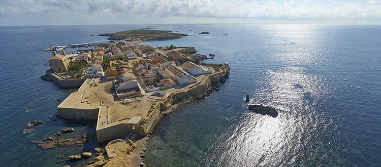 Panorámica de la isla de Tabarca.